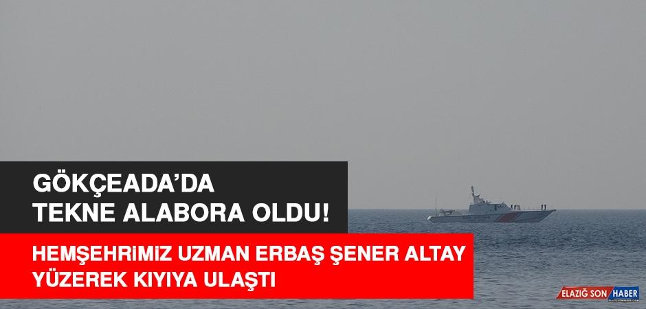 Hemşehrimiz Altay, Alabora Olan Tekneden Yüzerek Kurtuldu