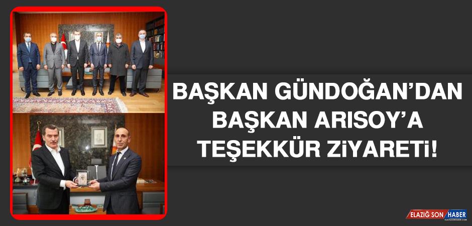 Başkan Gündoğan'dan Başkan Arısoy'a Teşekkür Ziyareti
