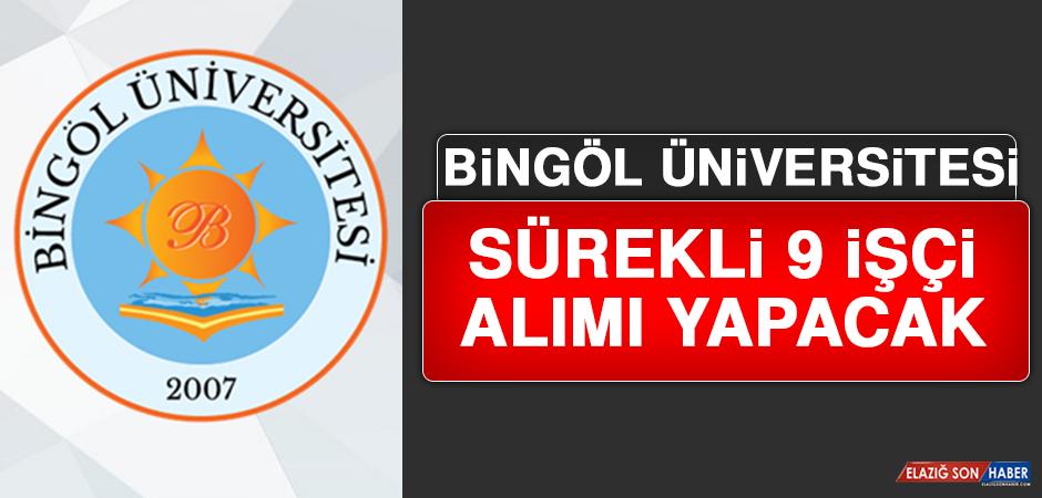 Bingöl Üniversitesi Sürekli 9 İşçi Alımı Yapacak