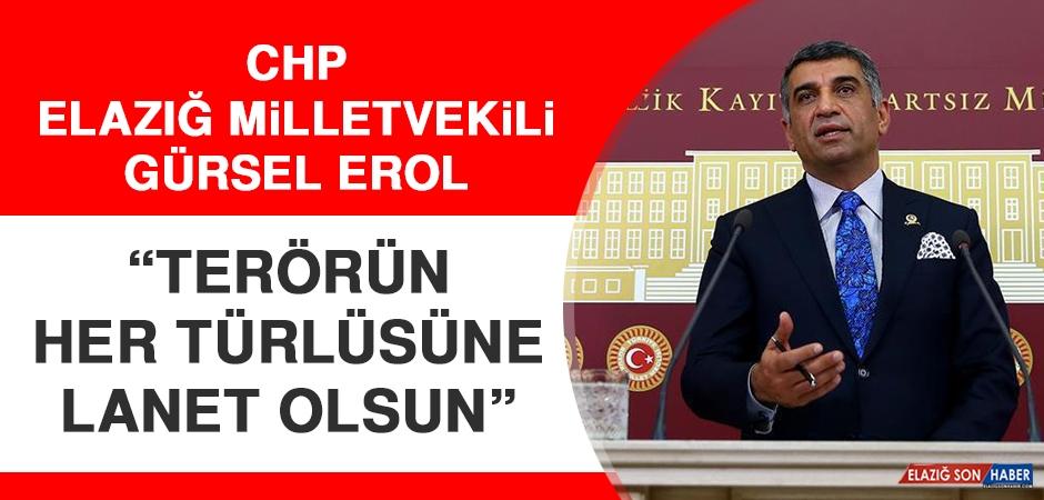 CHP Elazığ Milletvekili Erol: Terörün Her Türlüsüne Lanet Olsun