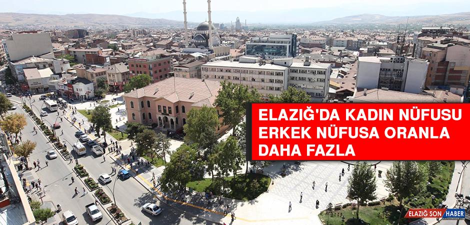 Elazığ'da Toplam Kadın Nüfusu Erkek Nüfusa Oranla Daha Fazla