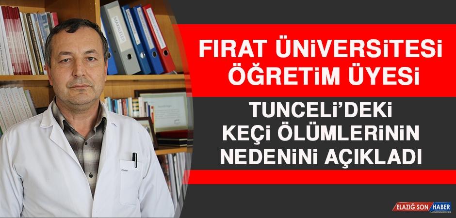 Fırat Üniversitesi Öğretim Üyesi Tunceli'deki Keçi Ölümlerinin Nedenini Açıkladı