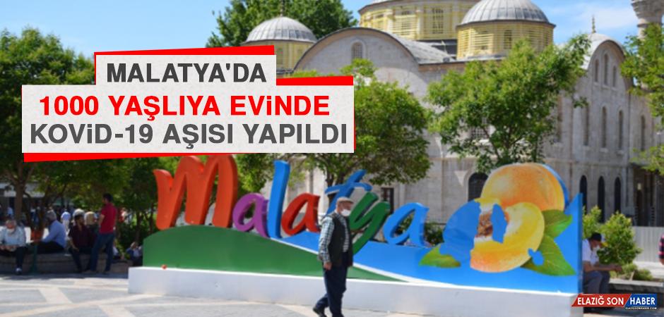 Malatya'da 1000 Yaşlıya Evinde Kovid-19 Aşısı Yapıldı