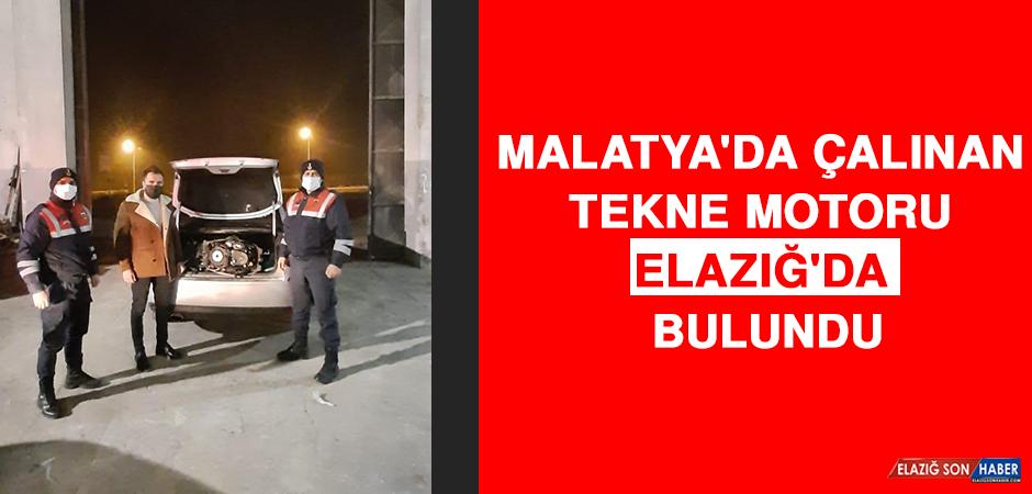 Malatya'da Çalınan Tekne Motoru Elazığ'da Bulundu