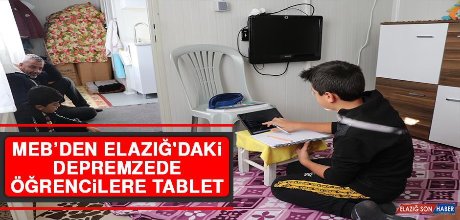 MEB'den Elazığ'daki Depremzede Öğrencilere Tablet