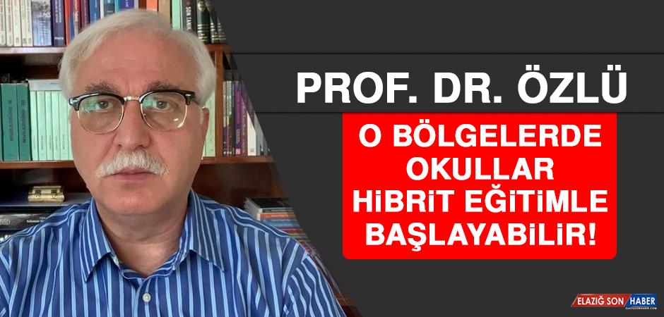 Prof. Dr. Özlü: O Bölgelerde Okullar Hibrit Eğitimle Başlayabilir