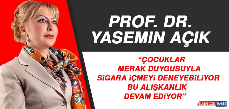 """Prof. Dr. Yasemin Açık: Türkiye'de """"13-15"""" Yaş Arası Gençlerin Yüzde 5,3'ü Sigara İçiyor"""