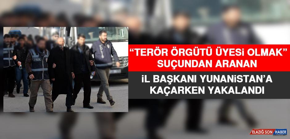 'Terör Örgütü Üyesi Olmak' Suçundan Aranan İl Başkanı Yunanistan'a Kaçarken Yakalandı!