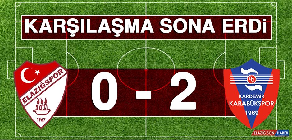 Tetiş Yapı Elazığspor 0 - 2 Karabükspor