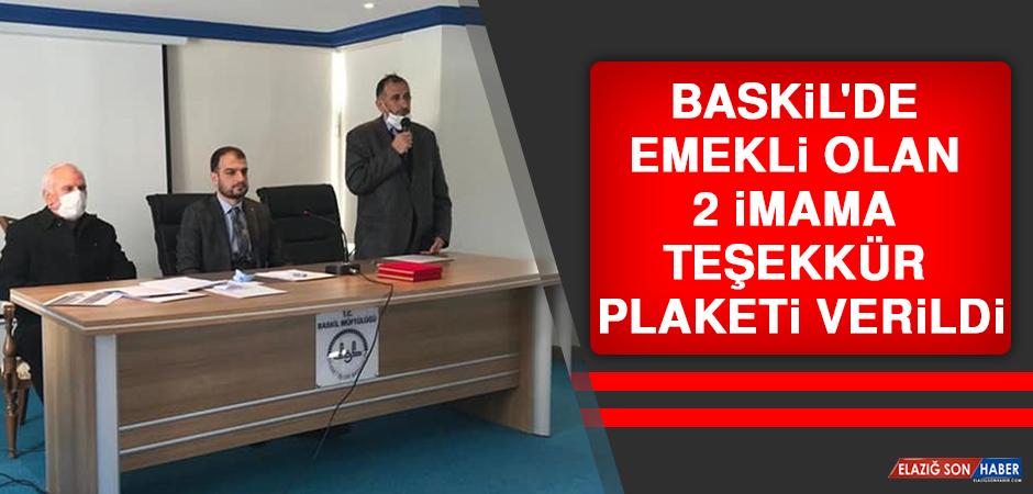 Baskil'de Emekli Olan 2 İmama Teşekkür Plaketi Verildi