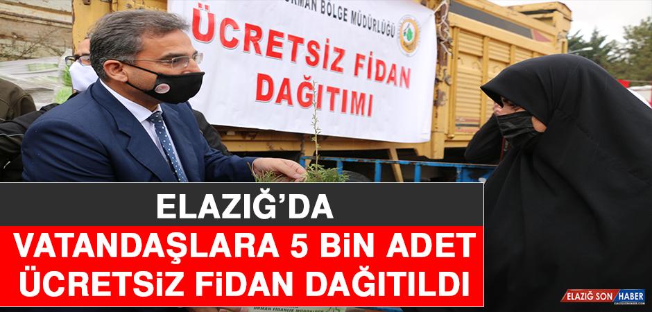 Elazığ'da Vatandaşlara 5 Bin Adet Ücretsiz Fidan Dağıtıldı