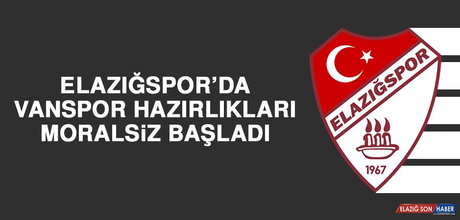 Elazığspor'da Vanspor Hazırlıkları Moralsiz Başladı