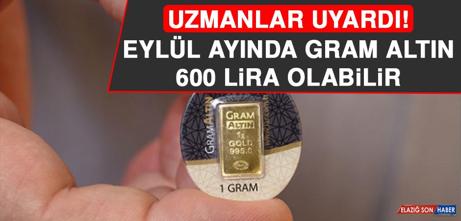 Eylül Ayında Gram Altın 600 Lira Olabilir!