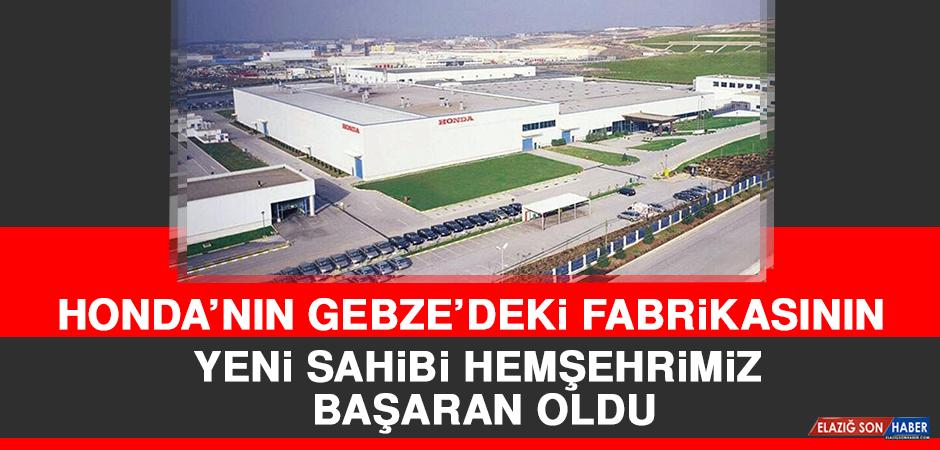 Honda'nın Gebze'deki Fabrikasının Yeni Sahibi Hemşehrimiz Başaran Oldu