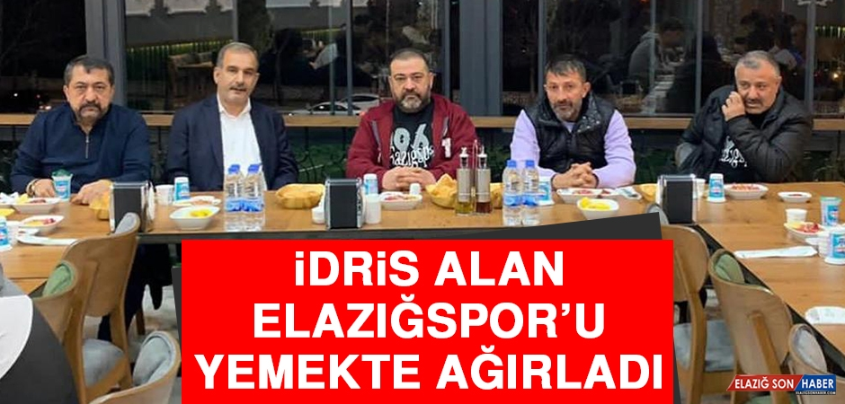 İdris Alan, Elazığspor'u Yemekte Ağırladı
