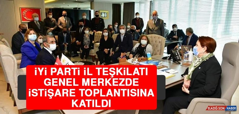 İYİ Parti İl Teşkilatı Genel Merkezde İstişare Toplantısına Katıldı