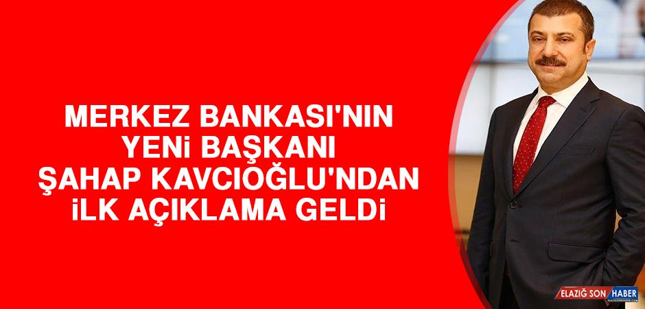 Merkez Bankası'nın Yeni Başkanı Şahap Kavcıoğlu'ndan İlk Açıklama Geldi