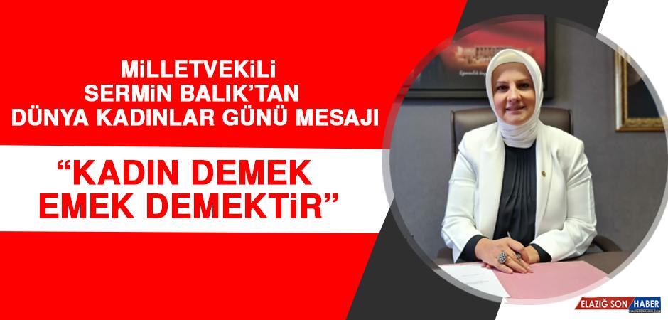 Milletvekili Sermin Balık'tan Dünya Kadınlar Günü Mesajı