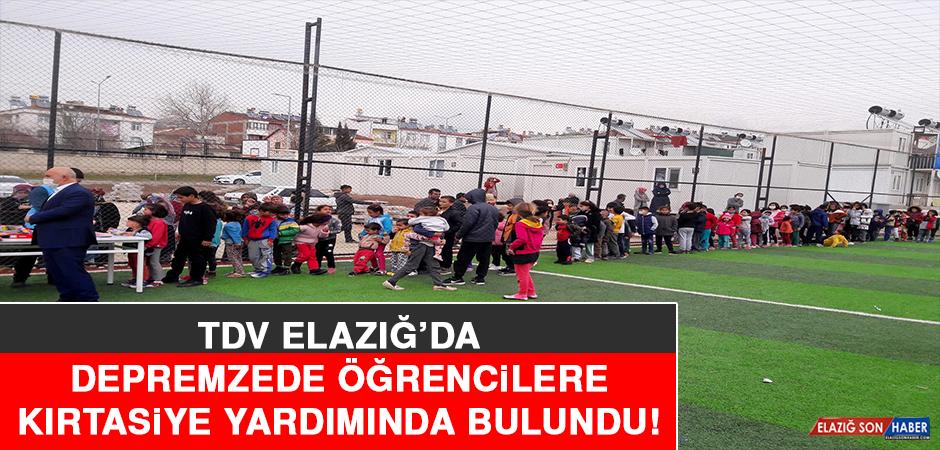 TDV Elazığ'da Depremzede Öğrencilere Kırtasiye Yardımında Bulundu!