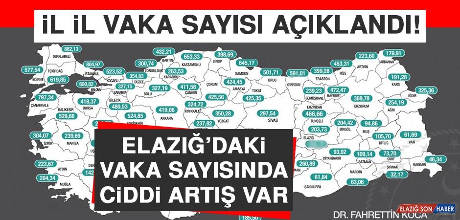 Bakan Koca Açıkladı! Elazığ'daki Vaka Sayısında Ciddi Artış Var