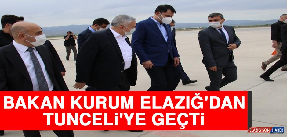 Bakan Kurum, Elazığ'dan Tunceli'ye Geçti