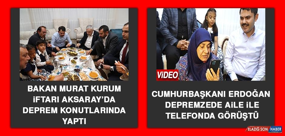Cumhurbaşkanı Erdoğan Depremzede Aile İle Telefonda Görüştü