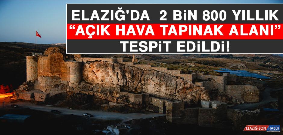"""Elazığ'da Urartu Dönemine Ait 2 Bin 800 Yıllık """"Açık Hava Tapınak Alanı"""" Tespit Edildi"""