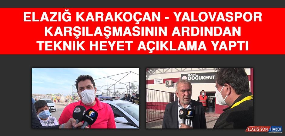 Elazığ Karakoçan - Yalovaspor Karşılaşmasının Ardından Teknik Heyet Açıklama Yaptı