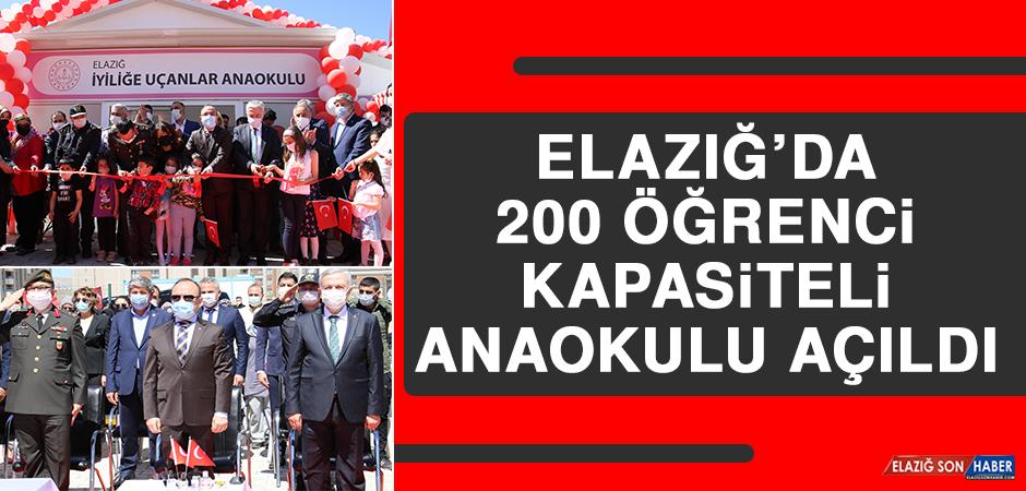 Elazığ'da 200 Öğrenci Kapasiteli Anaokulu Açıldı