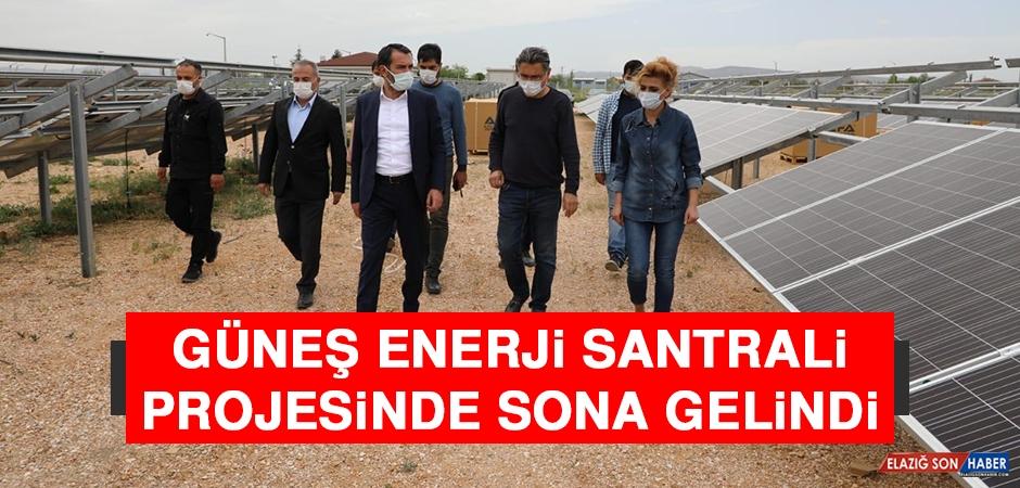 Güneş Enerji Santrali Projesinde Sona Gelindi