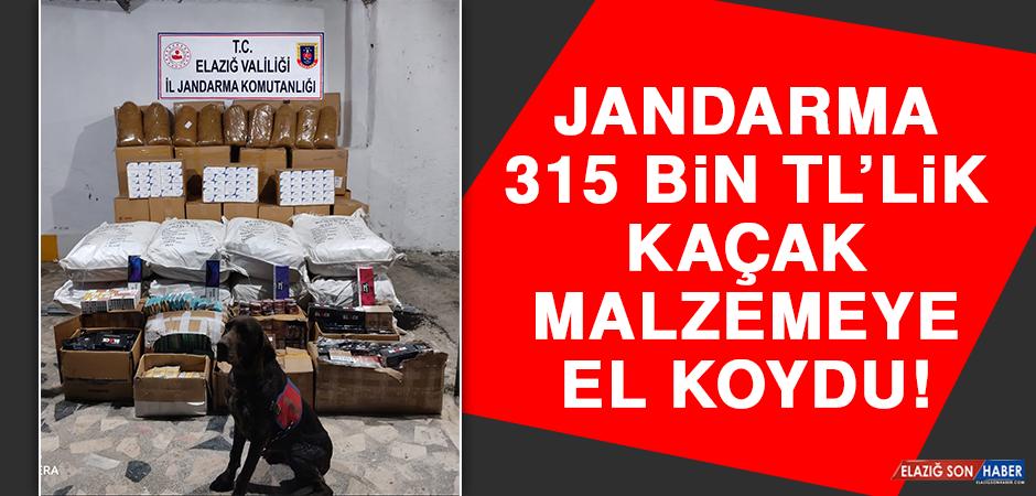Jandarma 315 Bin TL'lik Kaçak Malzemeye El Koydu!