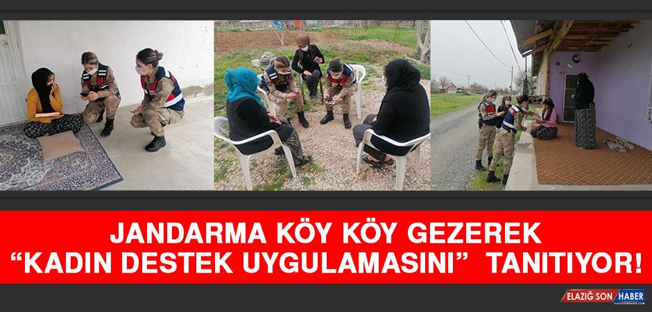 """Jandarma Köy Köy Gezerek """"Kadın Destek Uygulamasını"""" Tanıtıyor"""