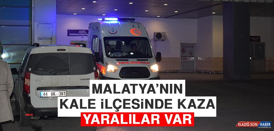 Malatya'nın Kale İlçesinde Trafik Kazası