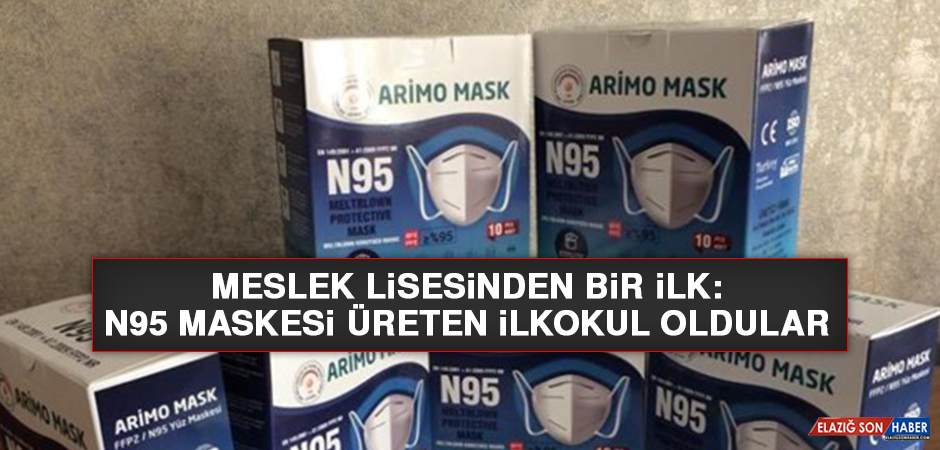 Meslek lisesinden bir ilk: N95 maskesi üreten ilkokul oldular