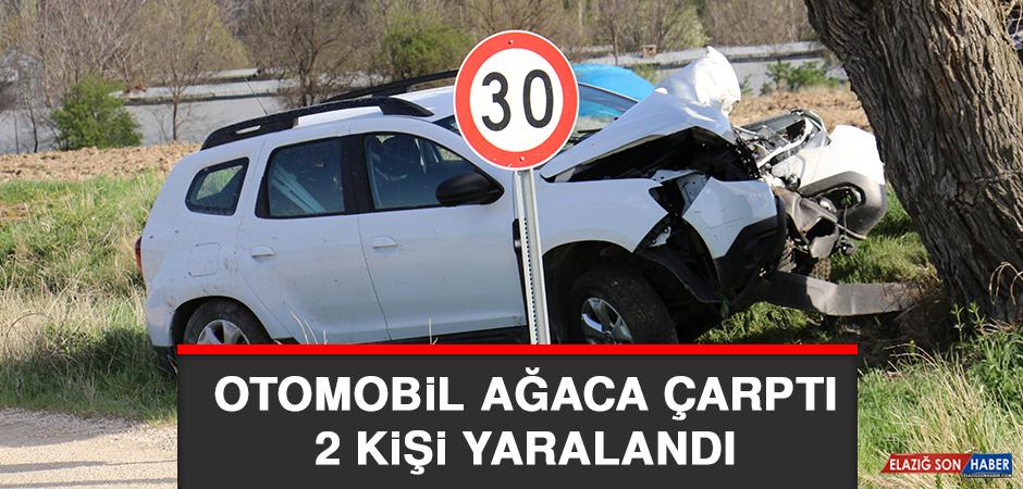 Otomobil Ağaca Çarptı, 2 Kişi Yaralandı