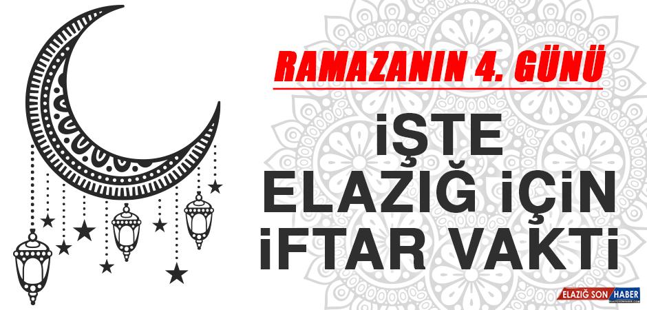 Ramazanın Dördüncü Gününde Elazığ'da İftar Vakti Saat Kaçta?