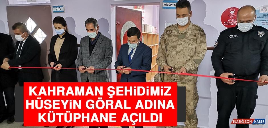 Şehidimiz Polis Hüseyin Göral Adına Kütüphane Açıldı