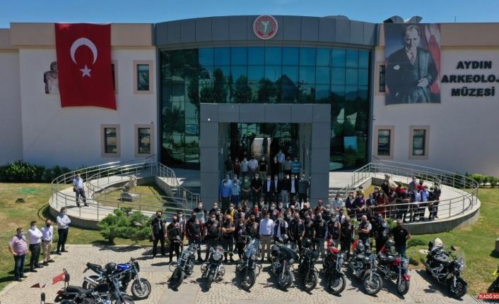 Aydın'ın kültür tanıtımına motosiklet tutkunlarından anlamlı destek