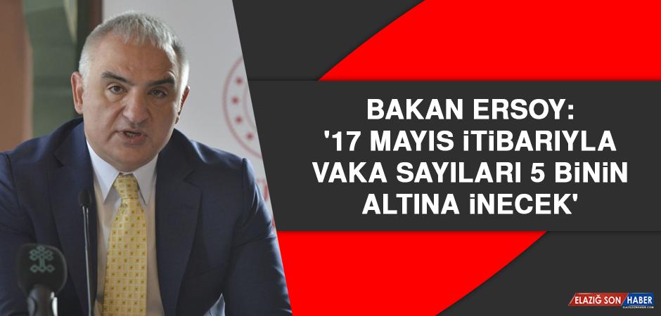 Bakan Ersoy: '17 Mayıs itibarıyla vaka sayıları 5 binin altına inecek'
