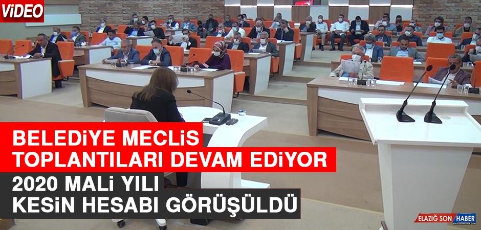 Elazığ Belediye Meclisi'nde 2020 Mali Yılı Kesin Hesabı Görüşüldü
