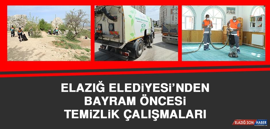 Elazığ Belediyesi'nde Bayram Öncesi Temizlik Çalışmaları