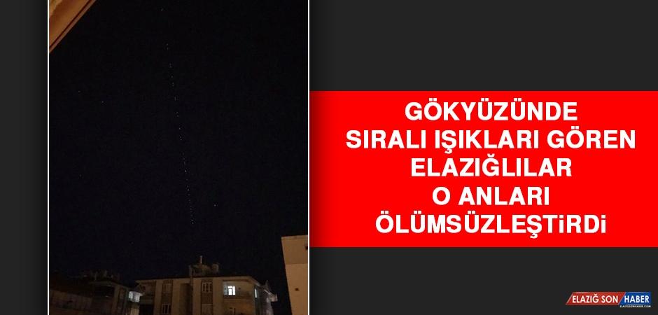 Elazığ'da Gökyüzünde Sıralı Yıldızlar Görüldü