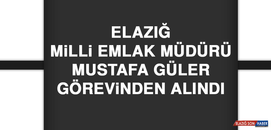 Elazığ Milli Emlak Müdürü Mustafa Güler Görevinden Alındı