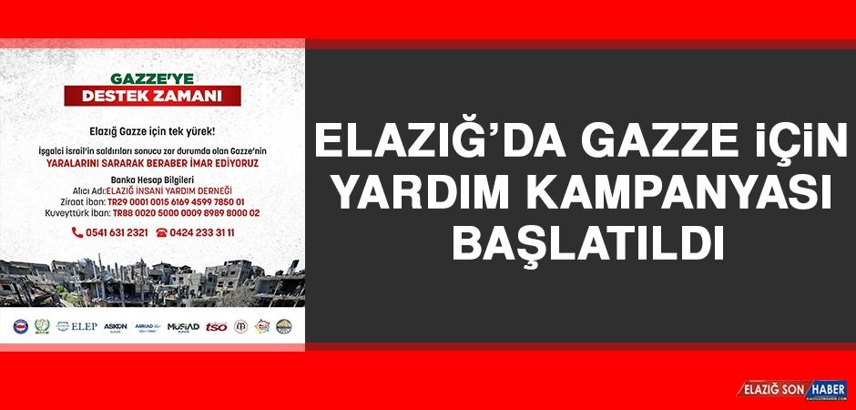 Elazığ'da Gazze İçin Yardım Kampanyası Başlatıldı