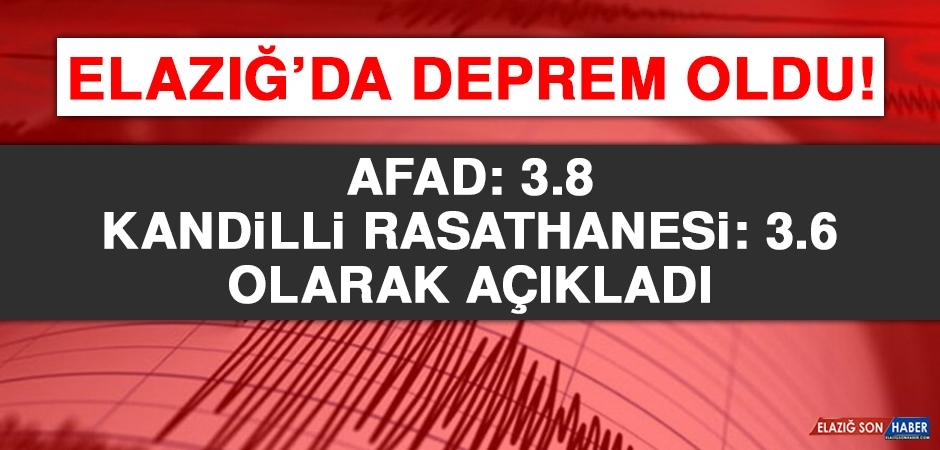 Elazığ'da Hissedilen Bir Deprem Oldu!