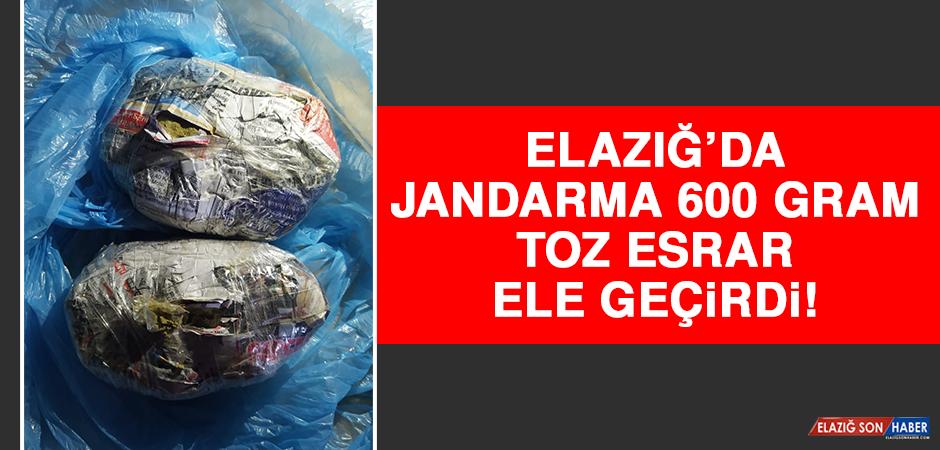 Elazığ'da Jandarma 600 Gram Toz Esrar Ele Geçirdi