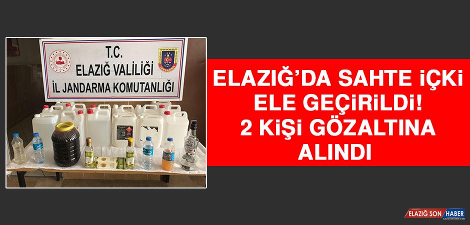 Elazığ'da Sahte İçki Ele Geçirildi: 2 Gözaltı