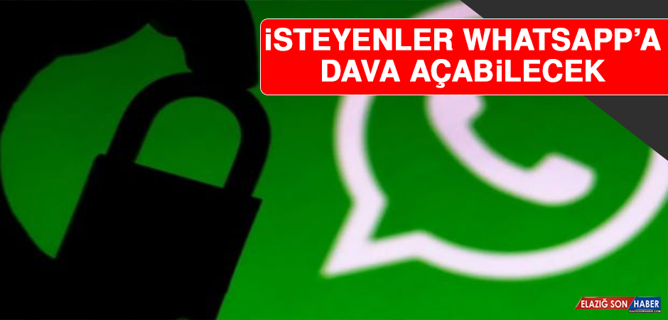 İsteyenler Whatsapp'a Dava Açabilecek