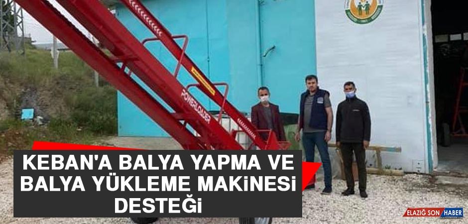 Keban'a Balya Yapma ve Balya Yükleme Makinesi Desteği