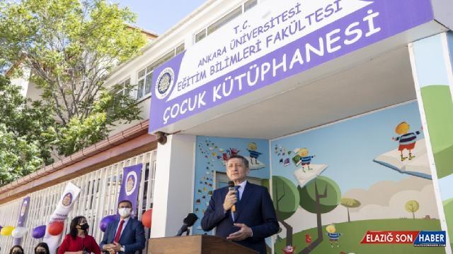 Milli Eğitim Bakanı Selçuk, çocuk kütüphanesinin açılışında konuştu